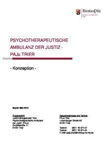 PSYCHOTHERAPEUTISCHE AMBULANZ DER JUSTIZ - PAJU TRIER
