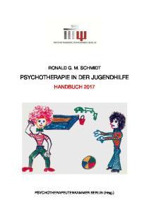 PSYCHOTHERAPIE IN DER JUGENDHILFE