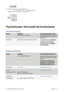 Psychotherapie: Was bezahlt die Krankenkasse