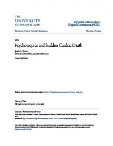 Psychotropics and Sudden Cardiac Death