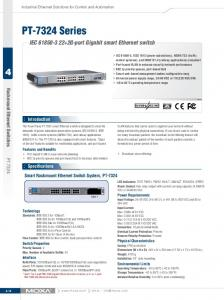 PT-7324 Series. IEC G-port Gigabit smart Ethernet switch. Rackmount Ethernet Switches. Introduction PT-7324