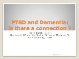 PTSD and Dementia: is there a connection?