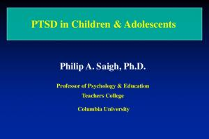 PTSD in Children & Adolescents