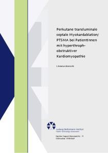 PTSMA bei PatientInnen mit hyperthrophobstruktiver. Kardiomyopathie. Literaturübersicht