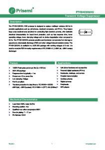 PTVSHC3D5VU Transient Voltage Suppressor