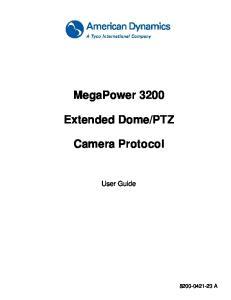 PTZ. Camera Protocol