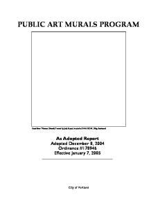 PUBLIC ART MURALS PROGRAM