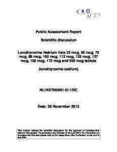 Public Assessment Report. Scientific discussion
