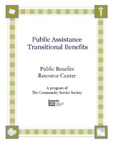 Public Assistance Transitional Benefits