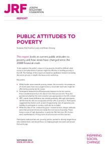 PUBLIC ATTITUDES TO POVERTY