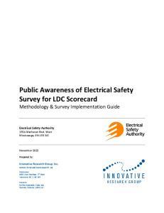 Public Awareness of Electrical Safety Survey for LDC Scorecard Methodology & Survey Implementation Guide