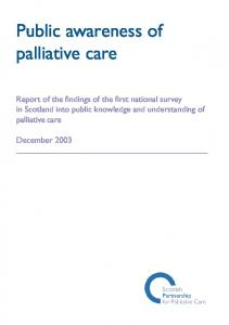 Public awareness of palliative care