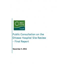 Public Consultation on the Ottawa Hospital Site Review Final Report