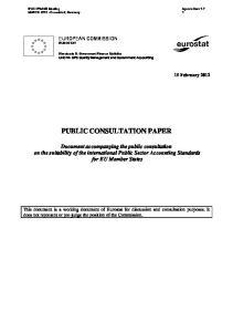 PUBLIC CONSULTATION PAPER