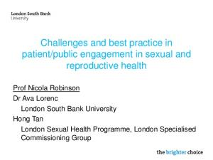 public engagement in sexual and reproductive health