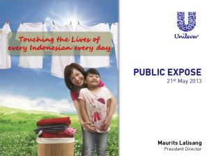 PUBLIC EXPOSE 21 st May 2013