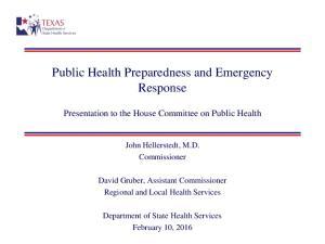 Public Health Preparedness and Emergency Response