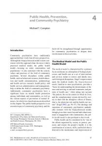 Public Health, Prevention, and Community Psychiatry