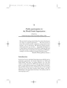 Public participation in the World Trade Organization