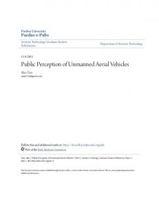 Public Perception of Unmanned Aerial Vehicles