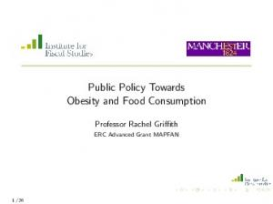 Public Policy Towards Obesity and Food Consumption