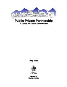 Public Private Partnership A Guide for Local Government