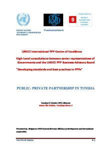 PUBLIC- PRIVATE PARTNERSHIP IN TUNISIA