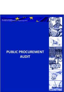 PUBLIC PROCUREMENT AUDIT