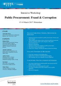 Public Procurement: Fraud & Corruption