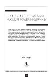PUBLIC PROTESTS AGAINST NUCLEAR POWER IN GERMANY