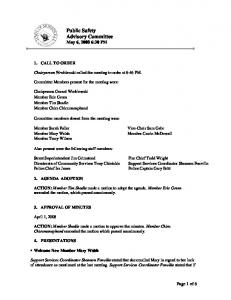 Public Safety Advisory Committee May 6, :30 PM