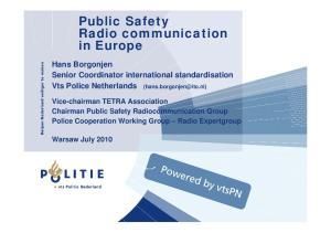 Public Safety Radio communication in Europe
