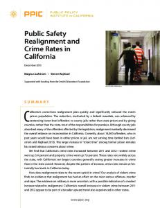 Public Safety Realignment and Crime Rates in California