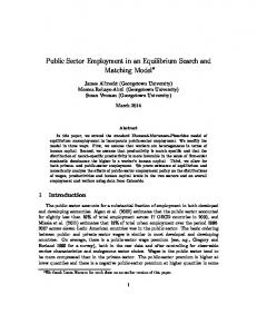 Public Sector Employment in an Equilibrium Search and Matching Model
