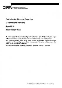 Public Sector Financial Reporting. (International version) June Examination Guide
