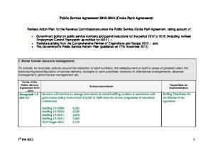 Public Service Agreement (Croke Park Agreement)