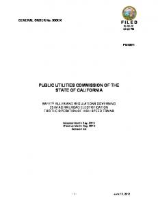 PUBLIC UTILITIES COMMISSION OF THE STATE OF CALIFORNIA
