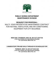 PUBLIC WORKS DEPARTMENT MAINTENANCE DIVISION