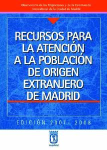 PUBLICACIONES DEL OBSERVATORIO DE LAS MIGRACIONES Y DE LA CONVIVENCIA INTERCULTURAL DE LA CIUDAD DE MADRID