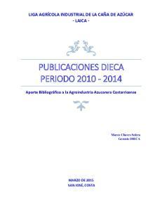 PUBLICACIONES DIECA PERIODO
