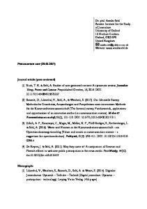 PUBLICATION LIST ( )