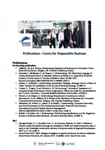 Publications - Centre for Responsible Business