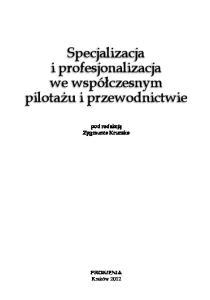 Publikacja z serii Monografie o tematyce turystycznej
