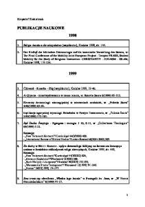PUBLIKACJE NAUKOWE 1998