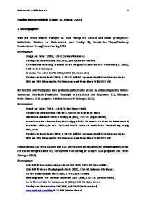 Publikationsverzeichnis (Stand: 01. August 2016)