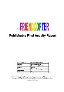 Publishable Final Activity report