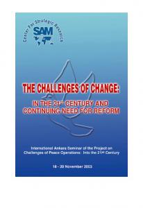 Published in 2004 by the Center for Strategic Research (SAM) 2004 Center for Strategic Research