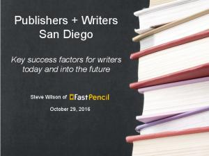 Publishers + Writers San Diego