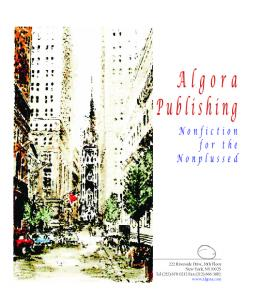 Publishing. 222 Riverside Drive, 16th Floor New York, NY Tel (212) Fax (212)