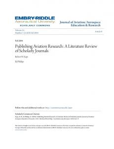 Publishing Aviation Research: A Literature Review of Scholarly Journals